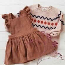 Платье для девочек; детская одежда; платья; коллекция года; платья для маленьких девочек; летнее вельветовое платье с бантом и открытой спиной; Vestido; одежда для маленьких девочек
