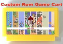 Costume fazer ÚNICO cartucho de jogo para consola FC, apoio Mapper 7, 9, 10, 11, 40, 66, 163 jogos.
