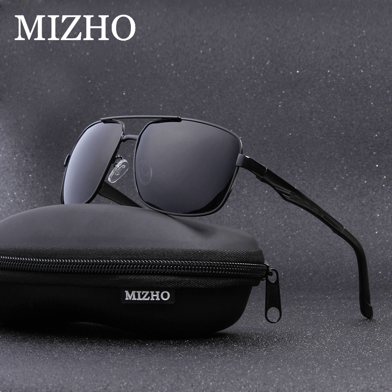 MIZHO Brand Visual Travel Use Square Sunglasses Men Polarized Aluminum Magnesium IP Vacuum Plating UV400 Polaroid 2020