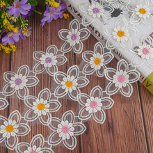 Embroidered Sewing Lace Ribbon Fabric Organza Trim Material DIY Quilting For Decoration
