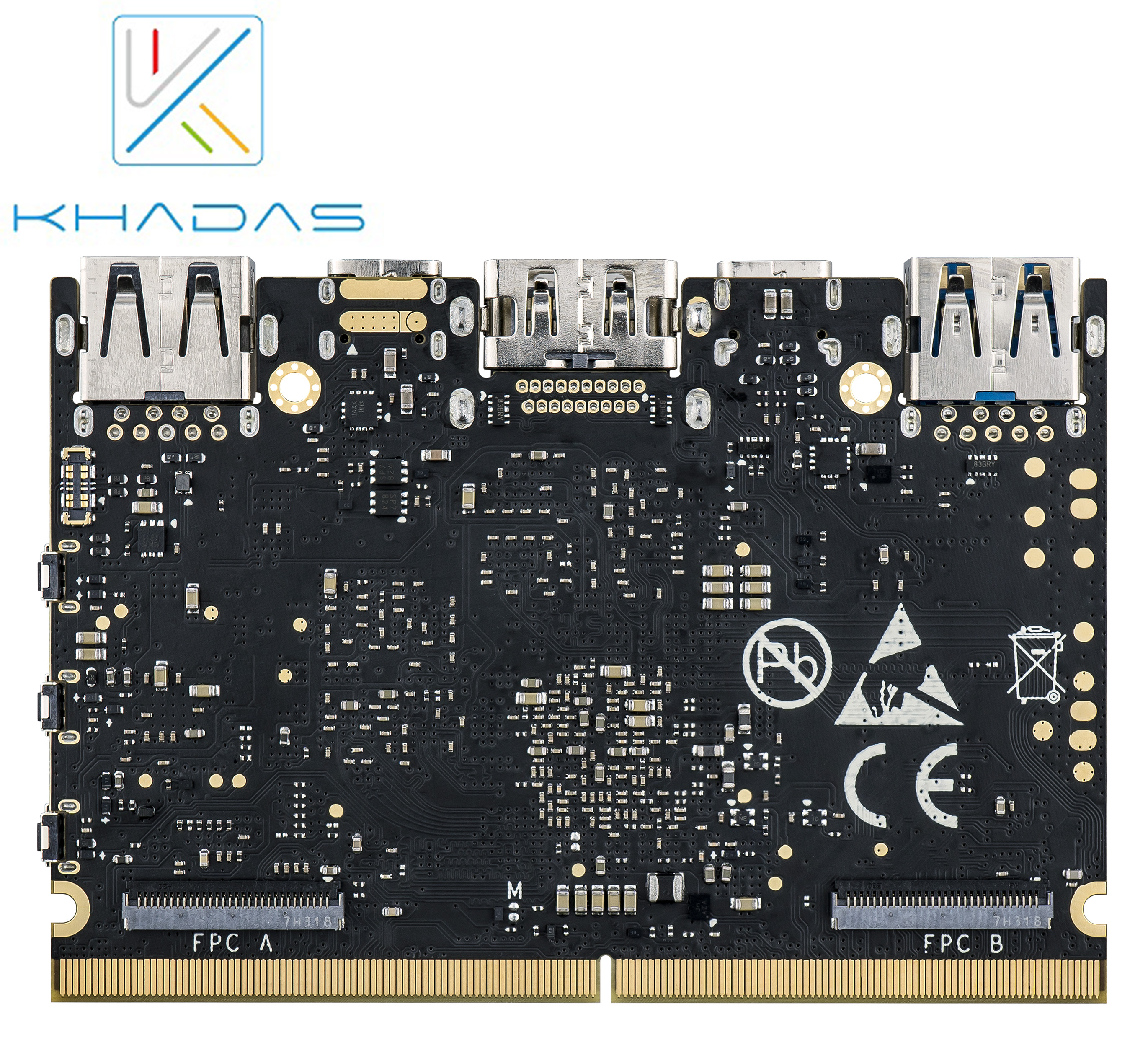 Khadas Edge Max with 128GB EMMC 5.1 RK3399 Soc Single Board Computer image