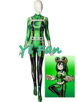3D Print My Hero Froppy Spandex Cosplay Girl Costume Zentai Catsuit Halloween Costumes for Woman Custom Made Freeshipping