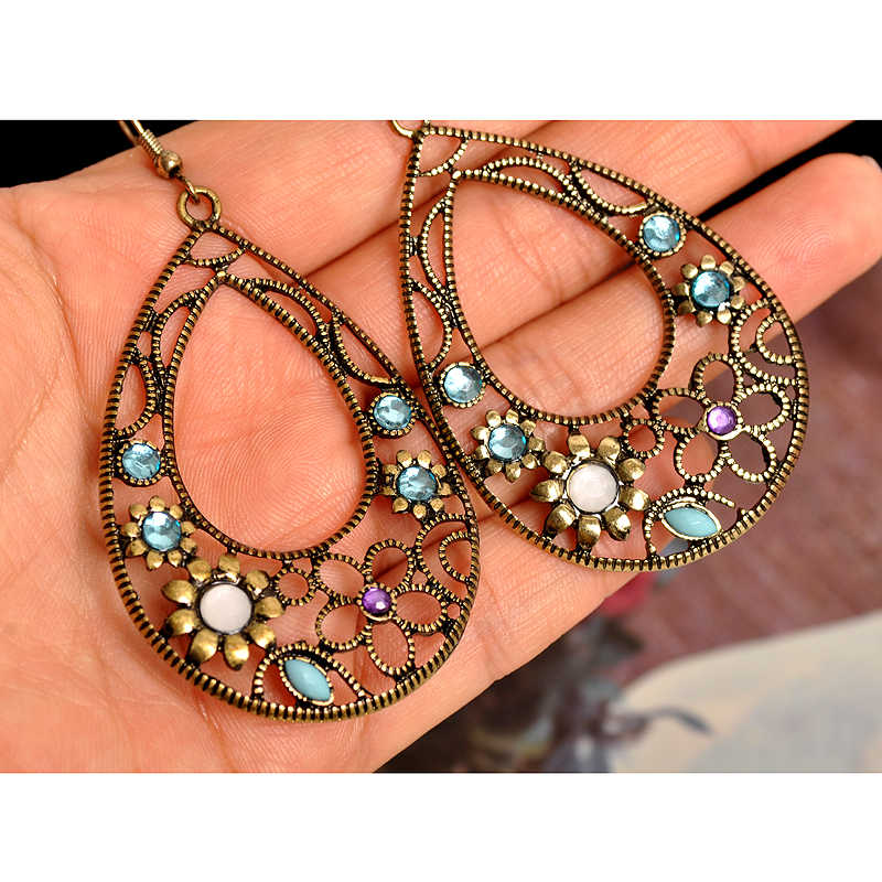 New fashion women jewelry wholesale girls birthday party Bohemian style dangle pendant beautiful earrings free shipping