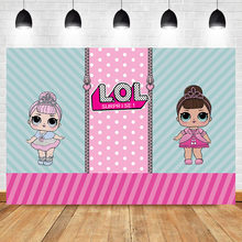 Neoback Cartoon Photography Backdrops Birthday Newborn Baby Party Background for Girls Stripes Custom Backdrop Photo Studio(China)