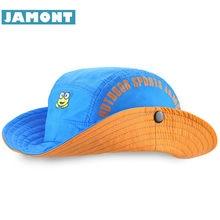 1413628ab  JAMONT  New Summer Kids Cowboy Hats Cotton Bucket Hats Sun Visor Fishing  Cap Boys Flap Hat Breathable Bone Gorras Casquette