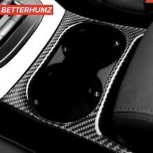 Автомобильный Стайлинг интерьера из углеродного волокна держатель стакана воды панель отделка наклеивающиеся Переводные картинки для детей Audi Q5(2010-) SQ5(2013-) аксессуары