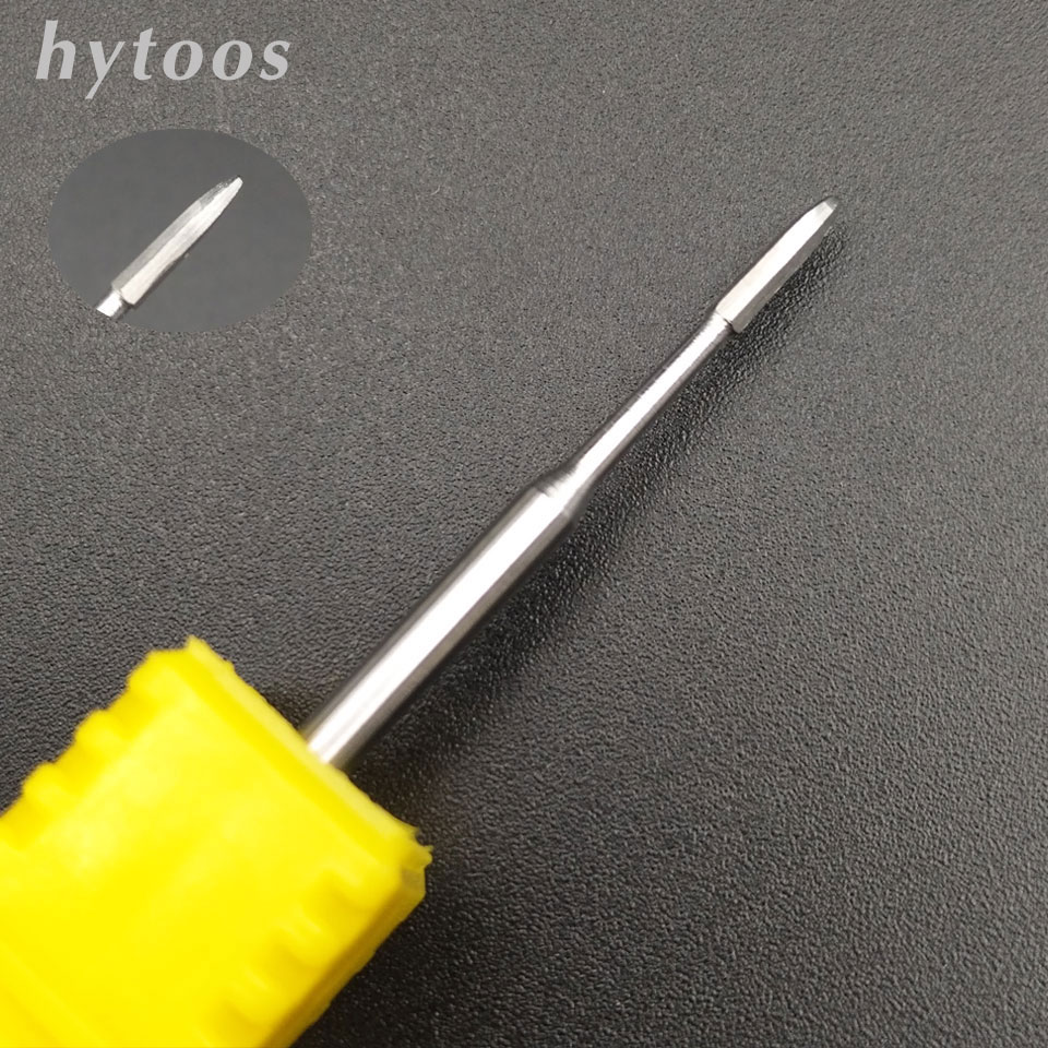 HYTOOS Cuticle Clean Burr Nail Drill Bit 3/32 Rotary Cutter For Manicure Dead Skin Removal Medical Stainless Steel Nail Tools arieslibra 10pcs silver stainless steel nail cuticle scissor manicure pedicure tools kits double fork dead skin scissor