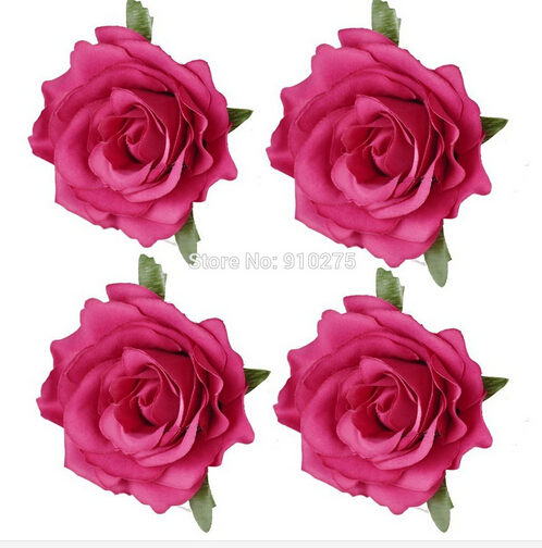 4 diameter hot pink artificial silk rose flower heads for diy hair 4 diameter hot pink artificial silk rose flower heads for diy hair clip bridal headpiece wedding party decoration 10 in artificial dried flowers from mightylinksfo