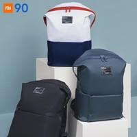 Xiaomi casual mochila jovem unsex sólido anti chuva impermeável poliéster mochilas saco de viagem universal sacos faculdade portátil Controle remoto inteligente Eletrônicos -