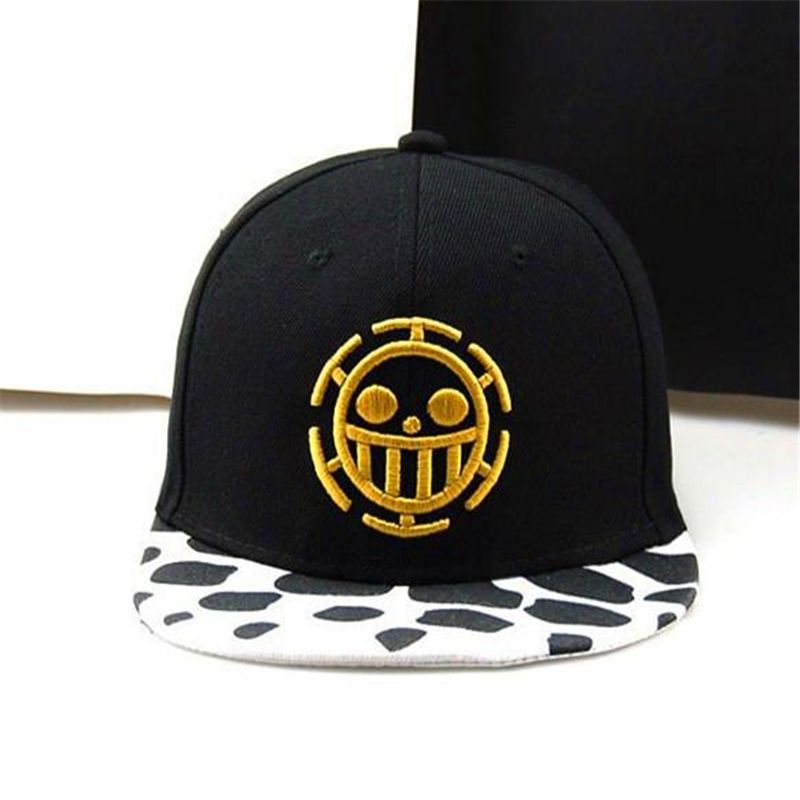 2017 New Fashion Unisex Soft Black Outdoor Cosplay Cute Anime One Piece Baseball Caps Sunhat Hats Gift Accessories Casquette Hat