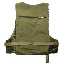 New Adjustable Fishing Vests Solid Vest Top Army Green Solid Fishing Backpack Multi-pocket Fly Chest Mesh Bag Outdoor