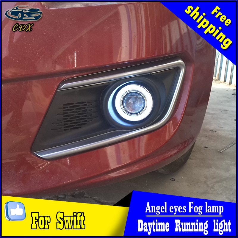 CDX car styling angel eyes fog light  for Swift  2013 year LED fog lamp LED Angel eyes LED fog lamp Accessories купить