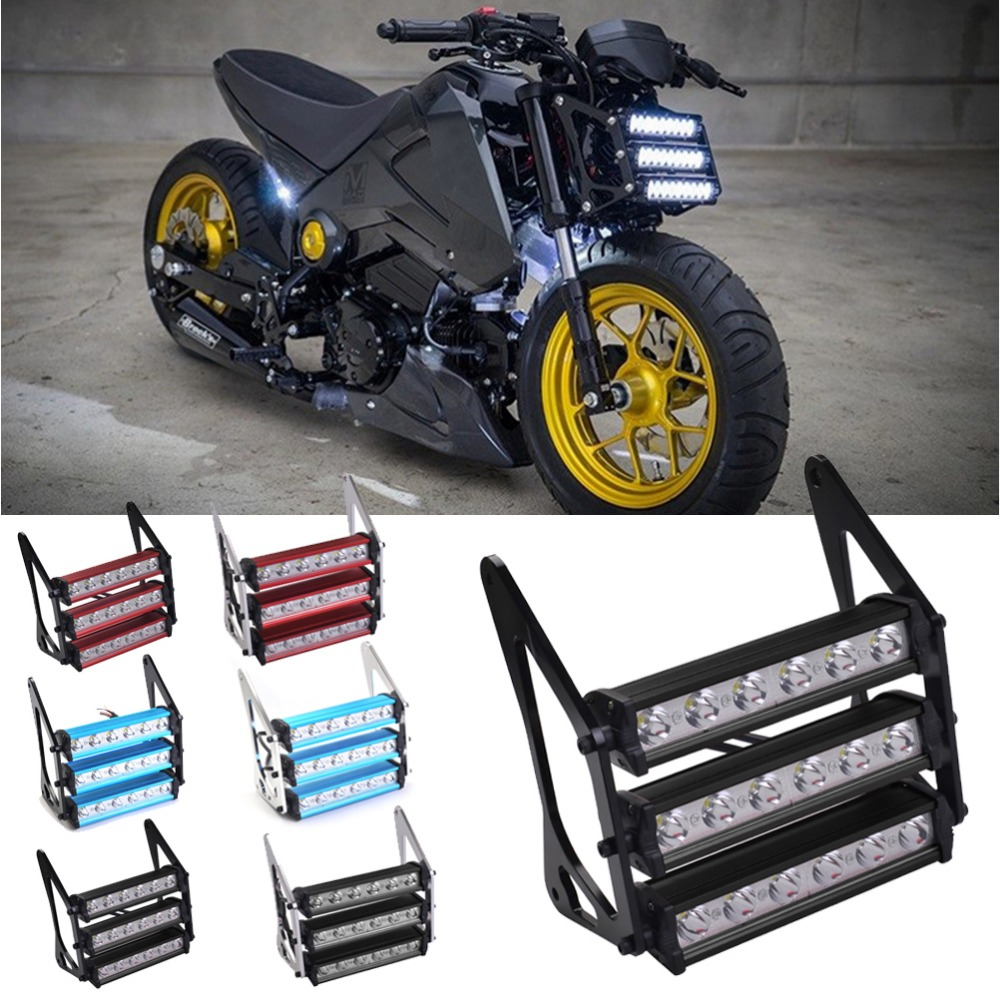 90W Motorcycle Led Headlight Waterproof 8000K Front Fork Light Lamp For Honda Grom 125 MSX125 MSX125SF 2013 2014 2015 2016