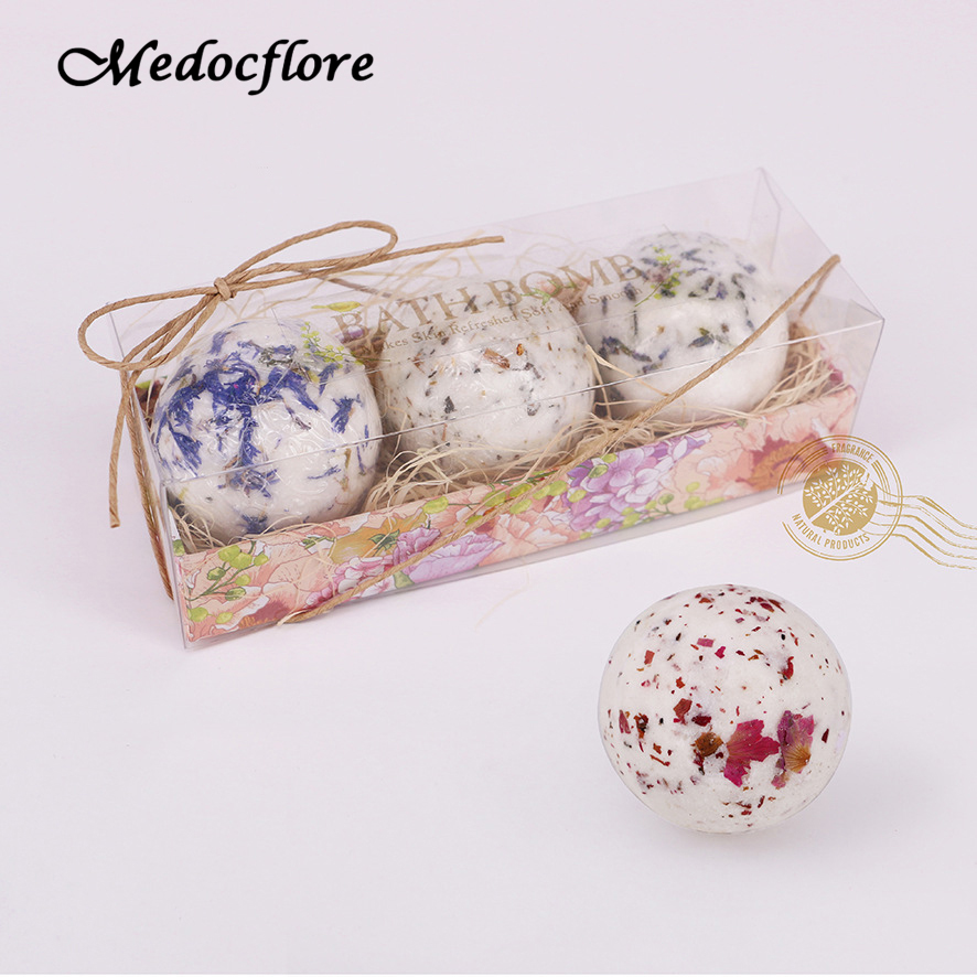 3pcs/pack Bubbles Bath Bomb Set For Home Spa Massage Makes Skin Refreshed Soft And Smooth Health Care Birthday Gift