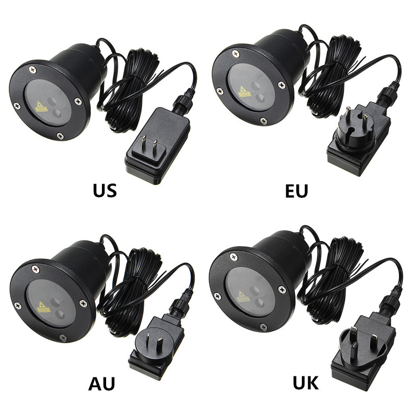 цены  AU/UK/EU/US Plug 12 Patterns Waterproof Projector Moving Laser Landscape LED Outdoor Light Garden Christmas Stage Lamp