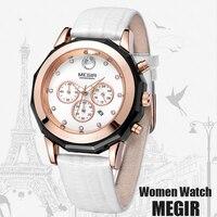 MEGIR творчески Кварцевые часы Для женщин Элитный бренд часы платье дамы Повседневное девочек Наручные часы женский Relogio Feminino