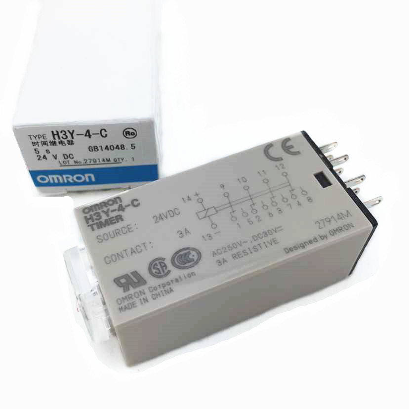 цена на H3Y-4 H3Y-4-C DC 24V 1S 5S 10S 30S 60S 3A OMRON relay 14 needle electronic component Time relays