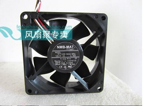 New original NMB-MAT 3110SB-04W-B56 8CM8025 12V0.18A 80*80*25MM4 needle case fan CPU cooling fan радиатор охлаждения газ 3110 медный 3 рядный