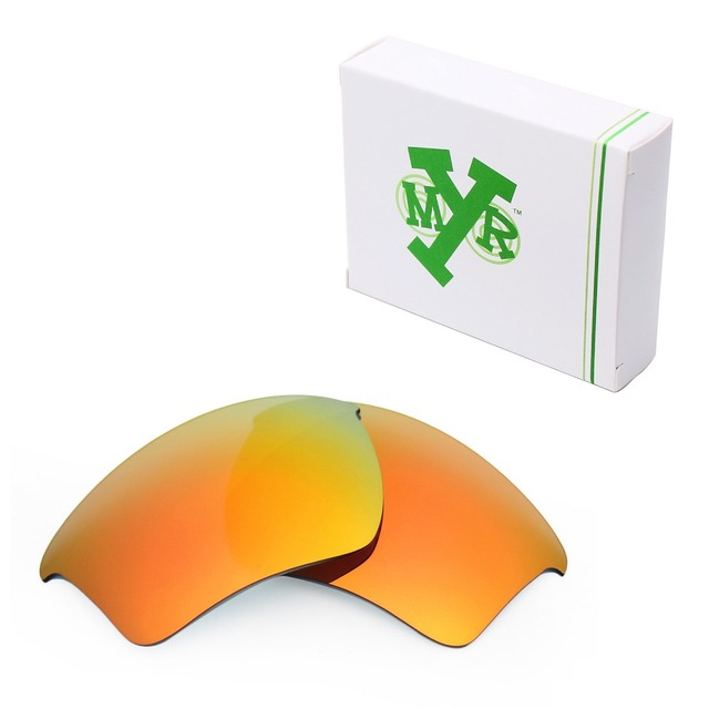 MRY POLARIZED Replacement Lenses for Oakley Half Jacket 2.0 XL Sunglasses Fire Red