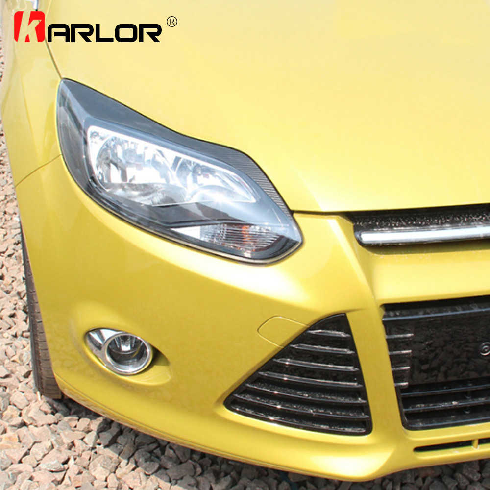 1 Pair Auto Car Hood Light Eyebrow Carbon Fiber Sticker Decoration Car Stickers And Decals Car Accessories For Ford Focus 3 Mk3