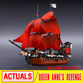 LEPIN 16009 Movie Series Queen Anne's revenge Pirates of the Caribbean Building Block Set  Compatible with 4195