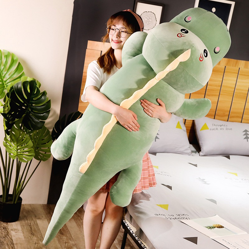 New Big Size Long Lovely Dinosaur Plush Toy Soft Cartoon Animal Dinosaur Stuffed Doll Boyfriend Pillow Kids Girl Birthday Gift(China)
