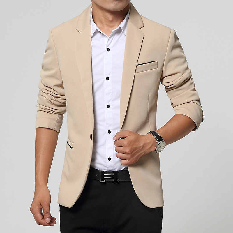 2018 Summer Luxury Business Casual Suit Men Blazers Formal Wedding ...