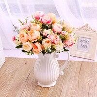 Modern Ceramic Wedding Decorative Vase Modern White Ceramic Vase Artificial Flower Bottle Household Decor Pink Blue Vases