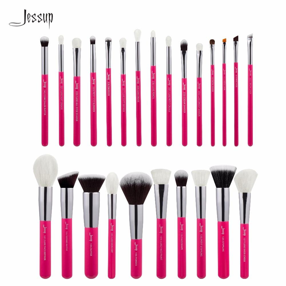 2017 New Jessup 25pcs Rose-carmin/Silver Professional Makeup Brushes Set Make up Brush Tools kit Foundation Powder Blushes T195 25 alluring rose