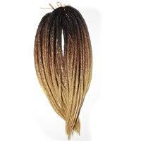Qp Hair hand made Dreadlocks Crochet synthetic Hair Extensions Ombre Kanekalon Crochet Braids Twist Crochet Hair 4110 Strands