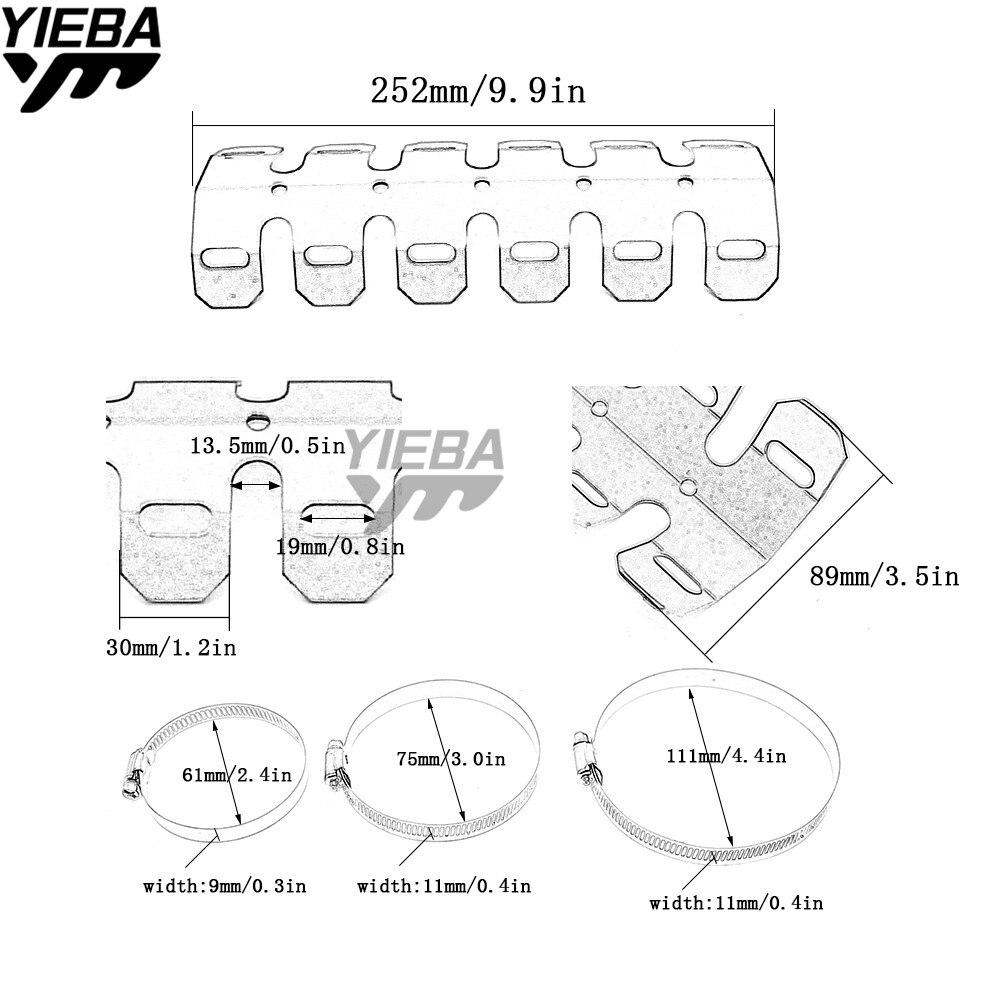 Exhaust Muffler Protector Heat Shield Cover For Kawasaki Z1000 Zx9r Engine Diagram Z800 Yamaha Xjr400 Xjr1200 Xjr1300 Xj600 Xj6 Duke 390 In Systems