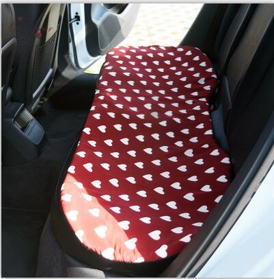 Love Red Чехлы рулевого колеса автомобиля Cotoon авто интерьер подголовник поддержка талии подушки сиденья чехлы Защита для девочек - Название цвета: 1pcs Rear cushion