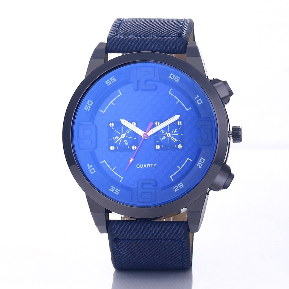Top Brand Luxury Blue Glass Watch Men Watch Sport Wrist watches Men's Watch Clock relogio masculino reloj hombre erkek kol saati
