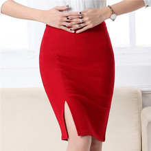 GEFANSHI women high waist pencil skirt slim fit