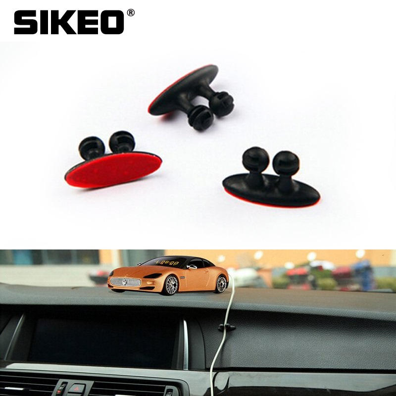 Car Wire Cable Holder Multi-functional Tie Clip Fixer Organizer Auto Charger Line Clasp Headphones Cable Clip