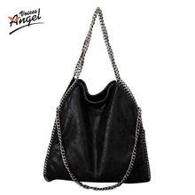 e78ff5ee801e6 Casual Frauen Weichen Pu Leder Handtasche Weibliche Schulter Tasche  Messenger Tasche Größere Größe Winter Frauen Tasche