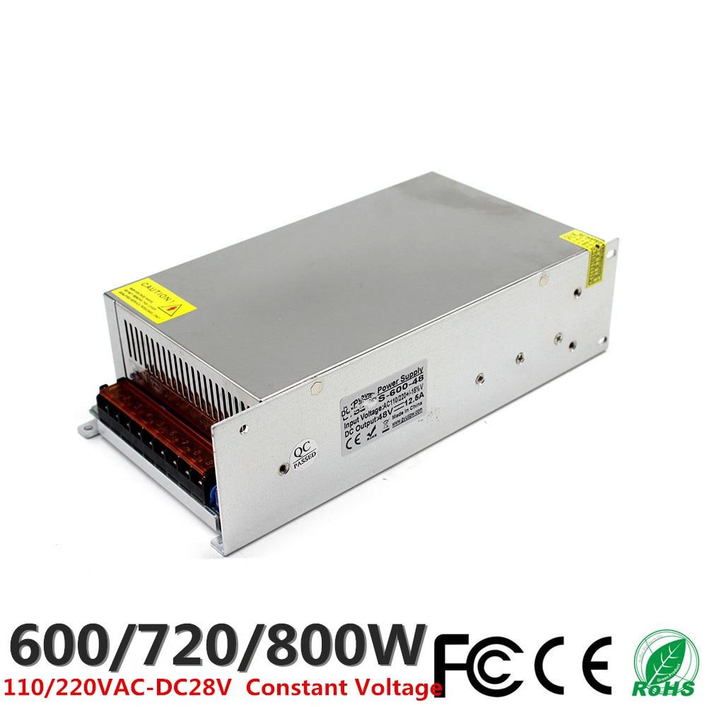 DC 30V 20A 600W 24A 720W 27A 800W LED Driver Switching Power Supply 110V 220V AC DC Constant Voltage Transformer CCTV CNC