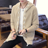 The new men's men's knitted cardigan sweater cultivate one's morality men's sweaters