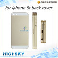 Запасные части оригинальный цвет для iphone5s металла крышка батарейного отсека для iphone 5s корпус задняя крышка 1 шт. бесплатная доставка