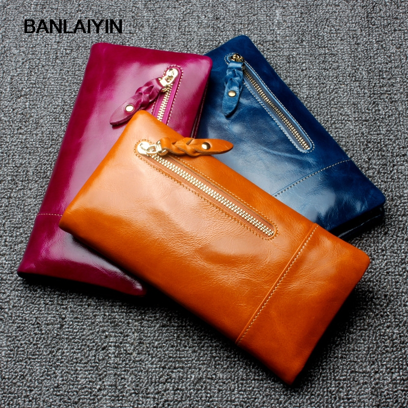 Real Genuine Leather Women Wallets Brand Design High Quality Nice Card Holder Long Lady Wallet Purse Clutch For Men nawo real genuine leather women wallets brand designer high quality 2017 coin card holder zipper long lady wallet purse clutch