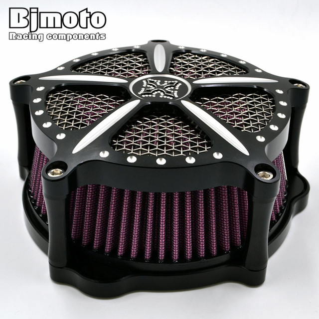 AC-007-BK Motorcycle Aluminum Air Cleaner Intake Filter For Harley Sportster XL 883 1200 2004-2015