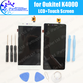 K4000 Oukitel Wyświetlacz LCD + Ekran Dotykowy Zgromadzenie 100% Testowane LCD Panel Szkło Digitizer Wymiana Dla Oukitel K4000 + Narzędzia, 2 dotykowy