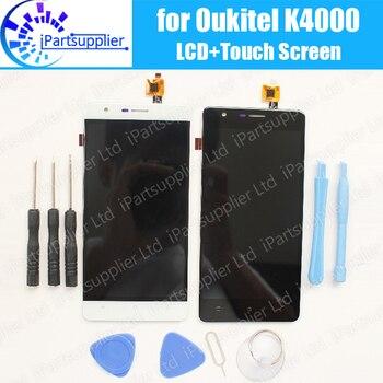 Oukitel K4000 LCD Ekran + Dokunmatik Ekran Meclisi Için 100% Test LCD Digitizer Cam Panel Yedek Oukitel K4000 + Aracı, 2 dokunmatik