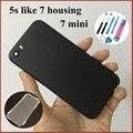 Para iphone estilo para el iphone 5s volver vivienda de color hacer 5S como 7 7 mini chapado batería del reemplazo de la cubierta para iphone 5s enviar caso