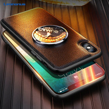 For iPhone 7 X 8 Plus Case Luxury Litchi Grain Leather Watching Time Metal Clock Back Cover for XS Max XR Phone Coque