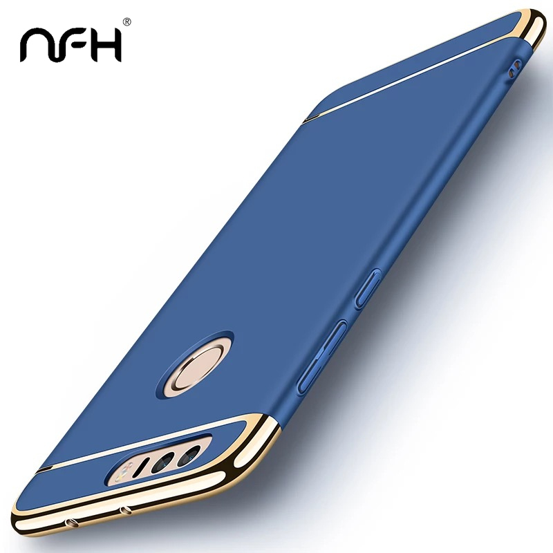 Luxury Full Protection Hard PC Plating Case For Huawei <font><b>Honor</b></font> 8 <font><b>Lite</b></font> 8X MAX <font><b>Gold</b></font> Slim Bumper Case On Huawei 5X 6X Hnor <font><b>9</b></font> <font><b>Lite</b></font> V10 image