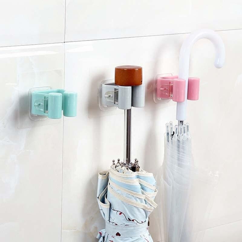 Настенный держатель для швабры, органайзер, кухонный клей, настенный держатель для швабры, держатель для хранения, метла, вешалка, зажим для швабры, крючок, стойки