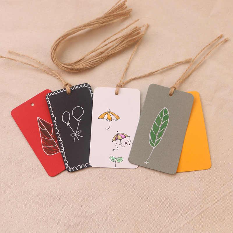 Ретро цветной DIY Цветная крафт-бумага бирка