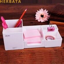 Держатель для ручек, модный многофункциональный корейский стол, коробка для хранения, офисные принадлежности, канцелярский ящик для ручек, пластиковый держатель ручек, набор