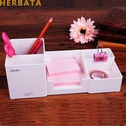 Ручка держатель стол новая мода многофункциональный корейский стол Коробка для хранения канцелярские принадлежности ручка коробка пласти...